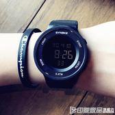 韓版簡約風多功能數字式手錶男女學生時尚潮流防水夜光個性電子表 印象家品旗艦店