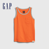Gap 男幼童 柔軟舒適圓領無袖上衣 545085-亮橘色