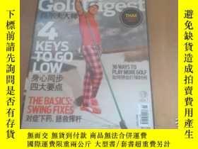 二手書博民逛書店Golf罕見Digest高爾夫大師2013年11Y270271
