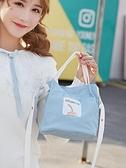 帆布包單肩斜挎包女ins少女心日系可愛韓版手提袋簡約時尚小包包 【全館免運】