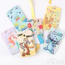 【迪士尼硬殼滑推式票卡夾】Norns 正版玩具總動員 維尼 史迪奇 票夾 證件套卡套 附背帶