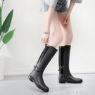 浩佩雨鞋女式高筒時尚款外穿 馬丁防滑防水鞋高筒長筒女成人雨靴 依凡卡時尚
