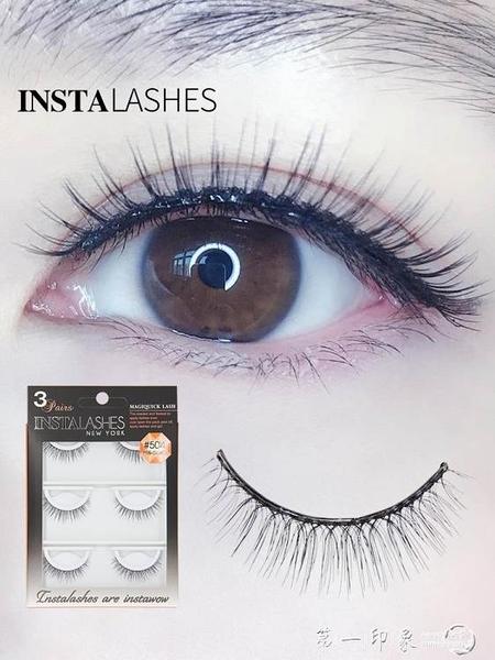 INSTALASHES免膠水假睫毛女自然仿真濃密素顏自黏帶膠眼睫毛504款第一印象