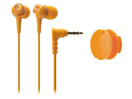 【台中平價鋪】全新鐵三角 ATH-CKL203 耳塞式耳機 橘色 馬卡龍糖果造型  台灣鐵三角公司貨