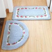 衛生間地毯 地墊門墊腳墊衛生間吸水進門門口家用浴室防滑墊洗手間地毯田園 igo
