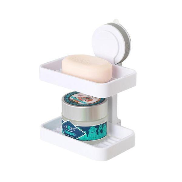 肥皂盒吸盤壁掛香皂盒瀝水創意大號衛生間吸壁式置物架皂托免打孔