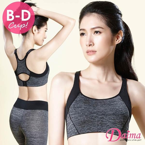 黛瑪Daima 運動內衣 極輕量3D炫彩無鋼圈機能集中款(黑色)K001