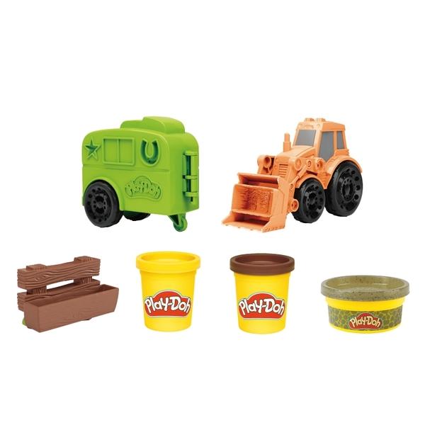 培樂多黏土Play-Doh 車輪系列 小馬拖拉機