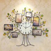 一紅裝飾相框現代藝術時尚大掛表時鐘創意鐘表掛鐘客廳石英鐘靜音WY 「名創家居生活館」