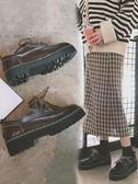 軟妹加絨小皮鞋女學生韓版百搭ulzzang秋季新款英倫鬆糕單鞋 時尚芭莎
