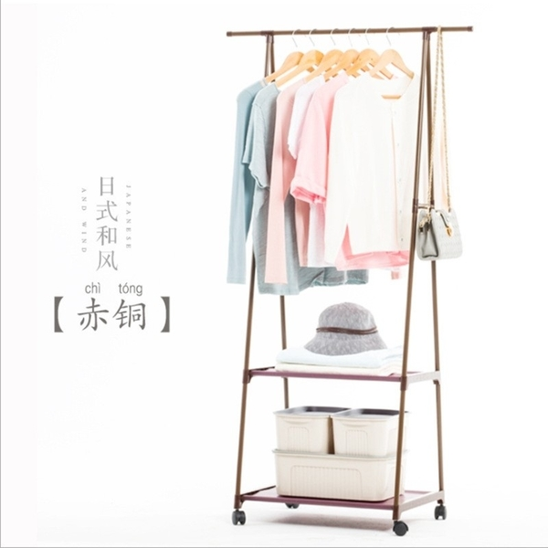 簡易衣帽架可移動掛衣架家用卧室衣架落地衣服架三角衣帽架