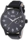 Hugo Boss 德式飛行員時尚腕錶-黑