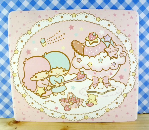 【震撼精品百貨】Little Twin Stars KiKi&LaLa 雙子星小天使~雙面卡片-粉甜點/紫星空