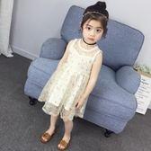 女童夏裝公主洋裝 洋氣背心新款韓版兒童網紗 LR1524【VIKI菈菈】