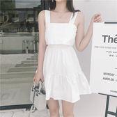 洋裝2018夏季新款韓版顯瘦學生小個子連身裙子女露背無袖吊帶小洋裝潮