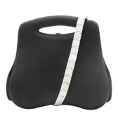 CHANEL 香奈兒 黑色棉質x金屬鏈手提肩背2way包 屁股包 2005限量 Premier Edition