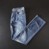 休閒修身男士牛仔褲微彈直筒褲長褲子 好再來小屋