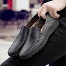 2020新款品牌男鞋豆豆鞋男士休閒鞋英倫休閒皮鞋透氣懶人鞋子「時尚彩紅屋」