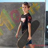 童裝男童休閒純棉短袖T恤 夢特嬌 黑色法式經典風格