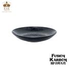 RAK Porcelain FUSION Karbon系列 星空黑圓深盤 22.5cm