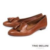 Tino Bellini 義大利進口小流蘇真皮樂福鞋 _ 棕 TF4202D 歐洲進口款