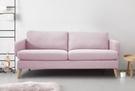 【歐雅居家】 皮特布沙發-三人座-粉紅 / 沙發 / 布沙發 /三人沙發 / 12層內材