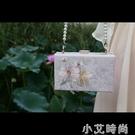 靈秀雙生花 古風刺繡手工包方形口金包漢服包旗袍包雙面繡花包包 蘿莉新品