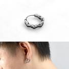 男生耳環 鋼製鋸齒波浪耳針ND782
