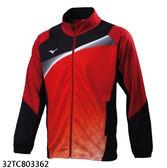 MIZUNO 美津濃 針織運動外套 (紅黑)  透氣快乾 彈性佳 32TC803362【胖媛的店】