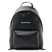 ■專櫃77折■ Balenciaga 全新真品Everyday Logo 小牛皮 後背包