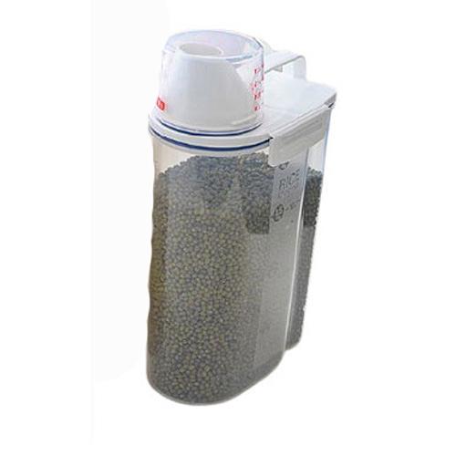 Qmishop 手提米桶帶量杯 收納櫥櫃雜糧儲物罐2.5L【J2434】