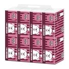 【南紡購物中心】【邦尼熊】復古酒紅條紋抽取式衛生紙100抽8包6袋