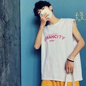 夏季男士寬鬆純棉背心韓版潮流純色百搭運動休閒籃球跨欄無袖T恤  巴黎街頭