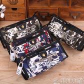 筆袋男生密碼鎖男孩筆袋學生文具盒帆布大容量鉛筆盒  非凡小鋪
