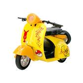 精靈寶可夢 神奇寶貝 皮卡丘 Amuzinc酷比樂 Q版迴力摩托車(黃色)