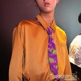 KDL卡多立 紫色logo印花領帶 時尚教主