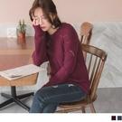 《FA2155》微鏤空造型織紋馬海毛針織上衣/毛衣 OrangeBear