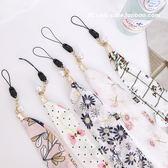 日韓手機掛繩氣質絲巾手繩掛脖子繩女款手機掛飾掛件通用手機掛繩不勒脖子