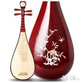 花梨木琵琶成人兒童入門練習琴初學考級演出專用民族樂器 DR8840【彩虹之家】