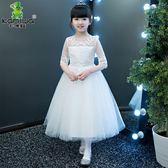 兒童裙女童蓬蓬紗新款花童禮服主持人鋼琴演出兒童婚紗 Ic426『伊人雅舍』
