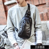 胸包男正韓腰包皮質小包包男士側背包單肩包運動背包潮包 【全館免運】