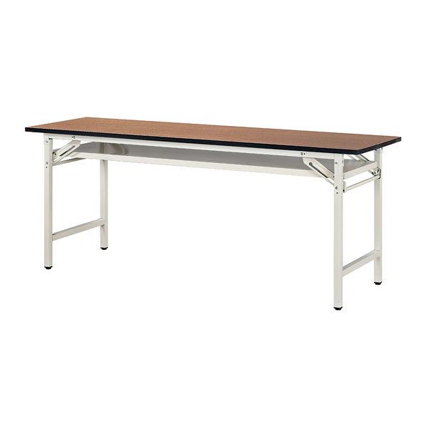 【森可家居】1.5尺折腳檯面會議桌(直角塑膠邊/木面) 7JX280-9