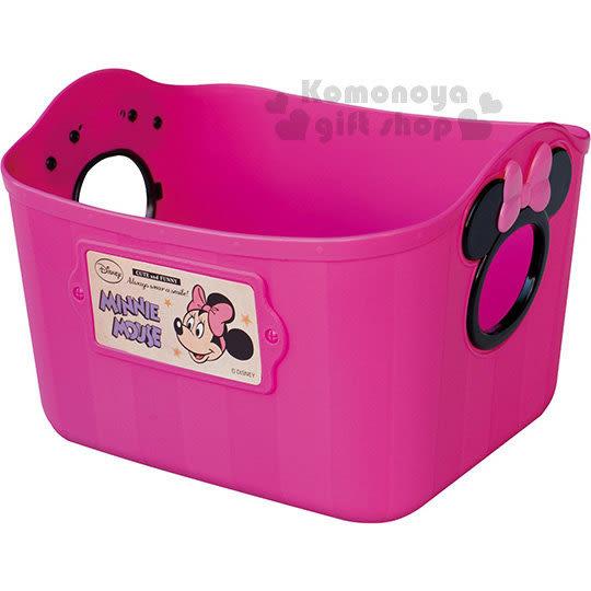 〔小禮堂〕迪士尼 米妮 日製軟式收納盒《L.桃紅》2.5L 4904121-34035