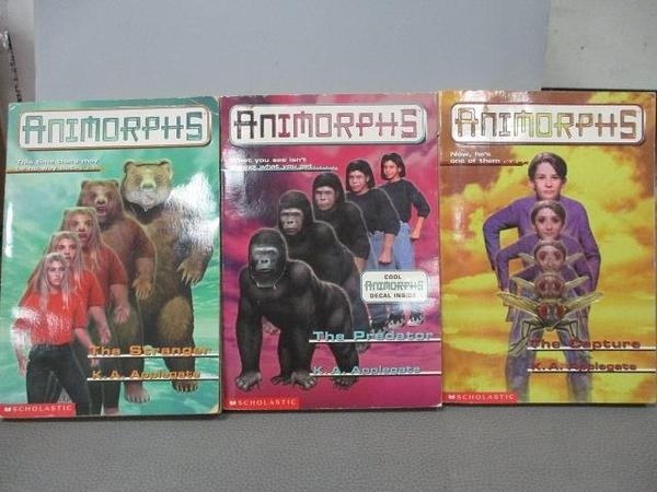 【書寶二手書T4/原文小說_MOT】Animorphs-The Predator_The Capture等_共3本合售