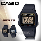 CASIO手錶專賣店 卡西歐 W-217H-9A 數字電子錶 橡膠錶帶 超亮LED照明 碼錶
