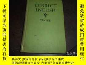 二手書博民逛書店CORRECT罕見ENGLISH(1928年 精裝32開,插圖版