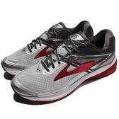 BROOKS 慢跑鞋 Ravenna 8 拉維納系列 八代 白 紅 DNA動態避震 運動鞋 男鞋【PUMP306】 1102481D067