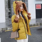 工廠批發價不退換防風保暖2018新款秋冬羽絨棉服女韓版短款可愛學生棉衣外套(1056A)依菲公主