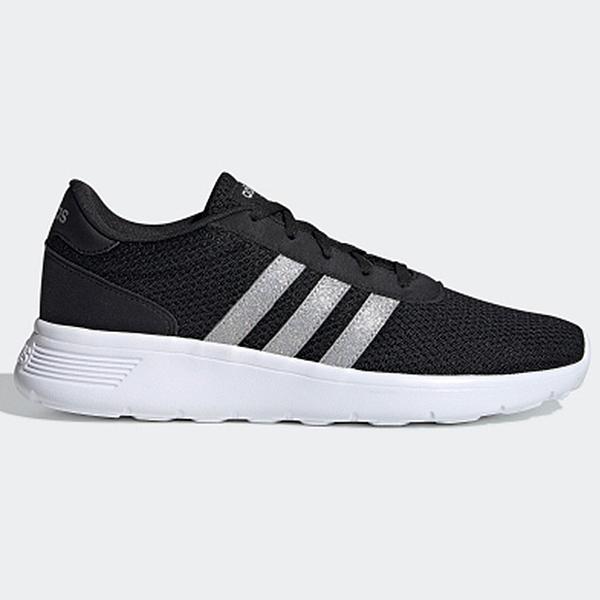 【現貨】Adidas LITE RACER 女鞋 慢跑 休閒 輕量 透氣 黑 銀【運動世界】 FW8979