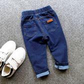 男童褲子長褲秋季兒童針織牛仔褲彈力寶寶單褲3-4-5-7歲6【交換禮物特惠】